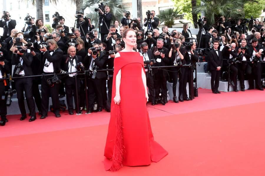 Julianne Moore, le 8 mai 2018 pour la cérémonie d'ouverture du festival de Cannes
