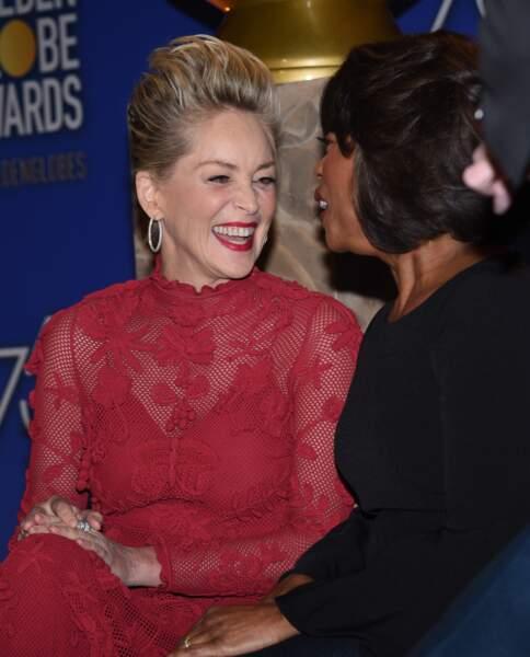 Sharon Stone, sa coupe courte est électrique !