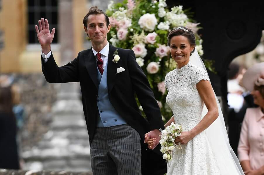 Le chic anglais incarné à la perfectioj par James Matthews pour son mariage avec Pippa Middleton le 20 mai 2017.