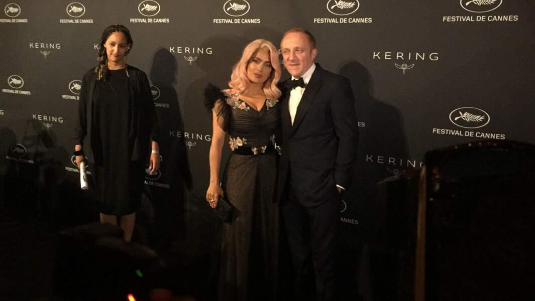 Salma Hayek, les cheveux roses, et son mari François-Henri Pinault