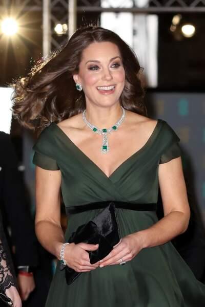 Kate Middleton, enceinte et rayonnante