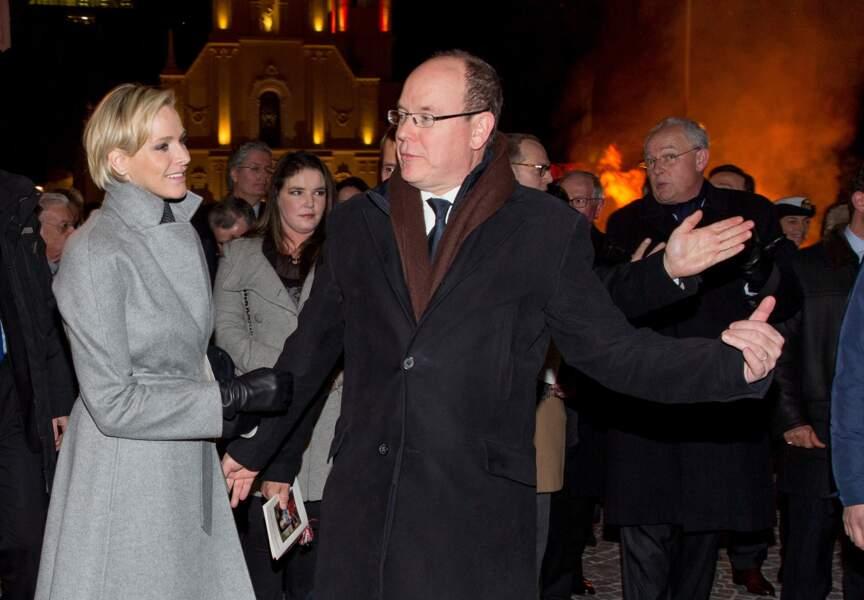 Albert et Charlène célèbre la patronne de Monaco