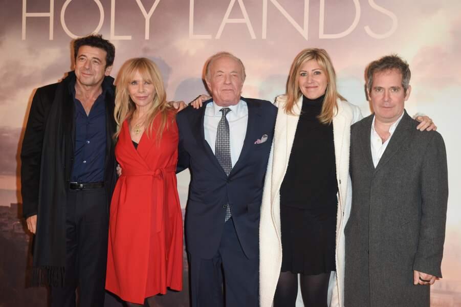 Amanda Sthers et ses comédiens lors de l'avant-première de Holy Lands ce 4 décembre