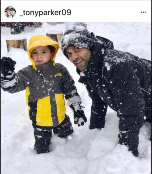 Tony Parker et son fils, Josh