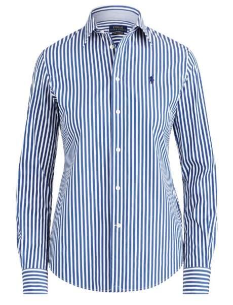 Chemise rayée, 115 €, Polo Ralph Lauren.