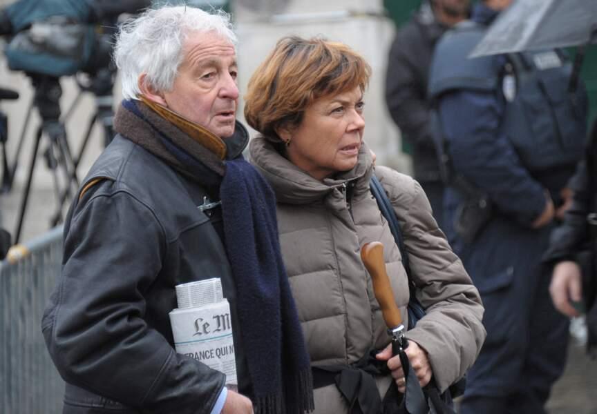 Le journaliste Ivan Levaï et son épouse