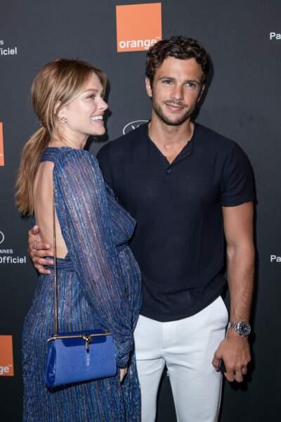 Caroline Receveur enceinte et son compagnon Hugo Philip