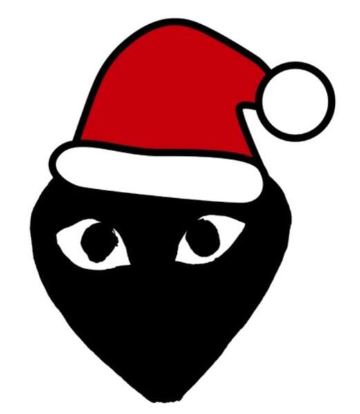 l'emoji Père Noël de Comme des Garçons à télécharger sur l'appstore à 0,99 €