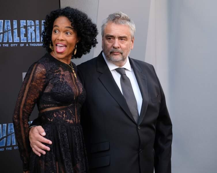 Luc Besson avec sa femme Virginie Besson-Silla le 17 juillet 2017