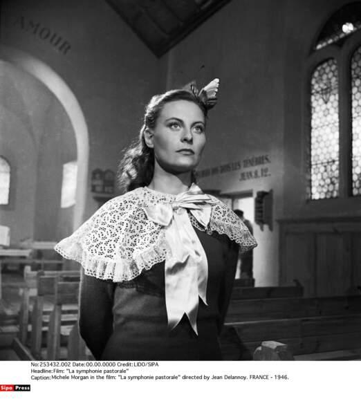 Michèle Morgan, dans La symphonie pastorale en 1946