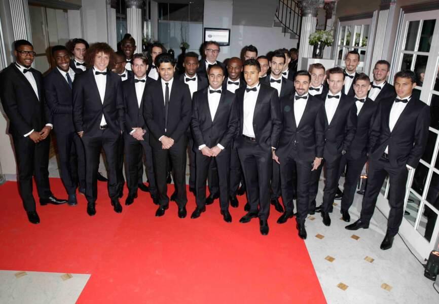 L'équipe du PSG sur son 31 (habillée en BOSS)