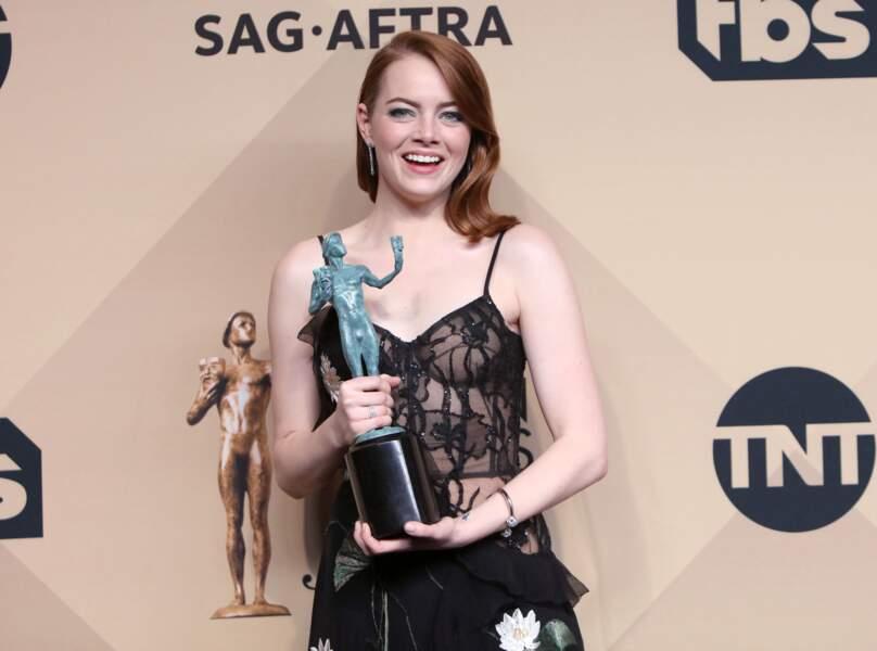 Elle a reçu le SAG Awards de la meilleure actrice