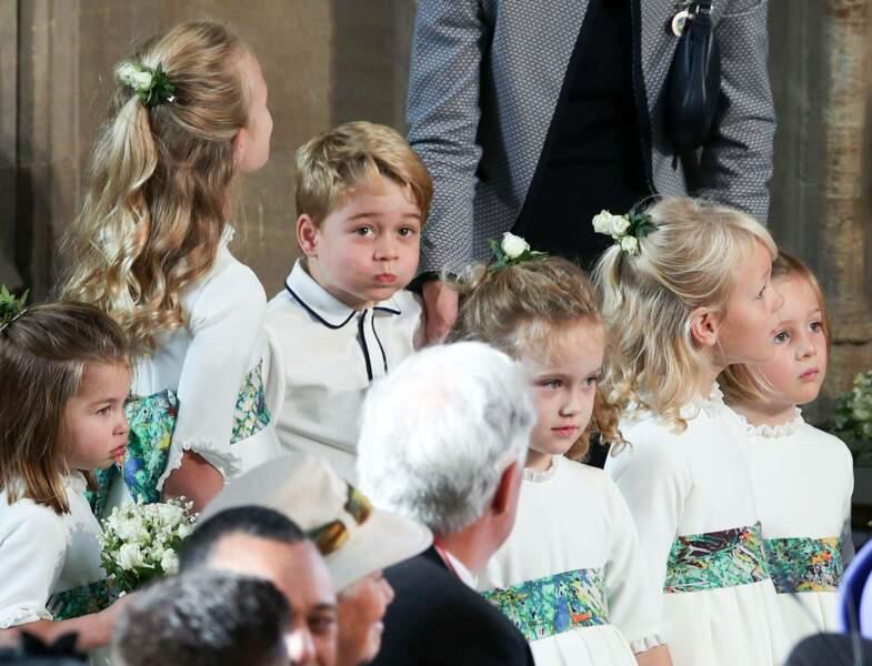 le prince George  lors de la cérémonie de mariage d'Eugénie d'York, le 12 octobre 2018