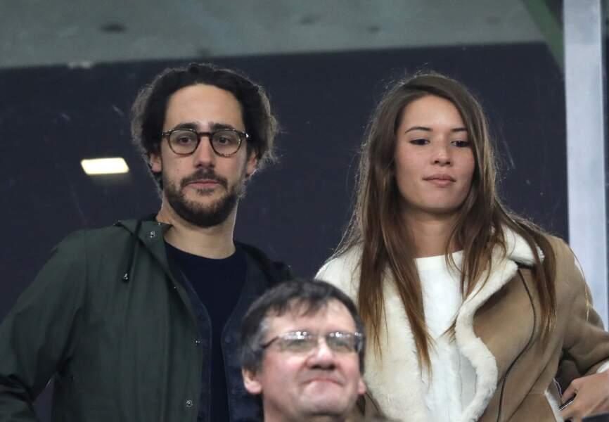 Thomas Hollande et sa compagne Emilie Broussouloux ce samedi 11 novembre au Stade de France.