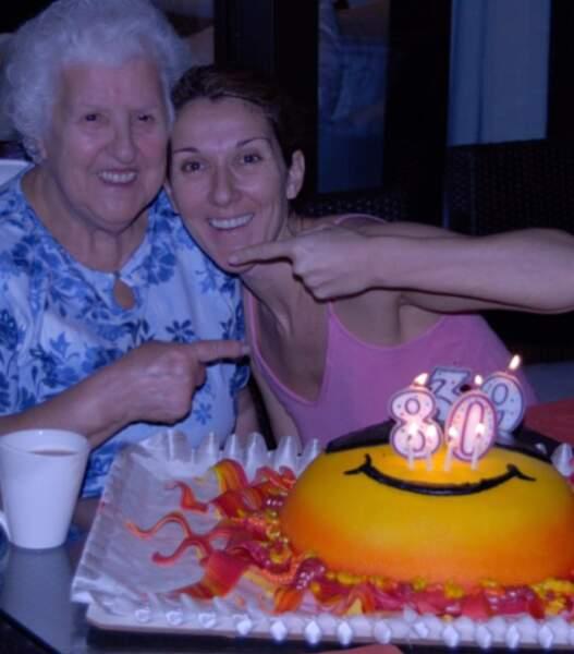 Céline et sa maman pour les 80 ans de sa maman Thérèse?
