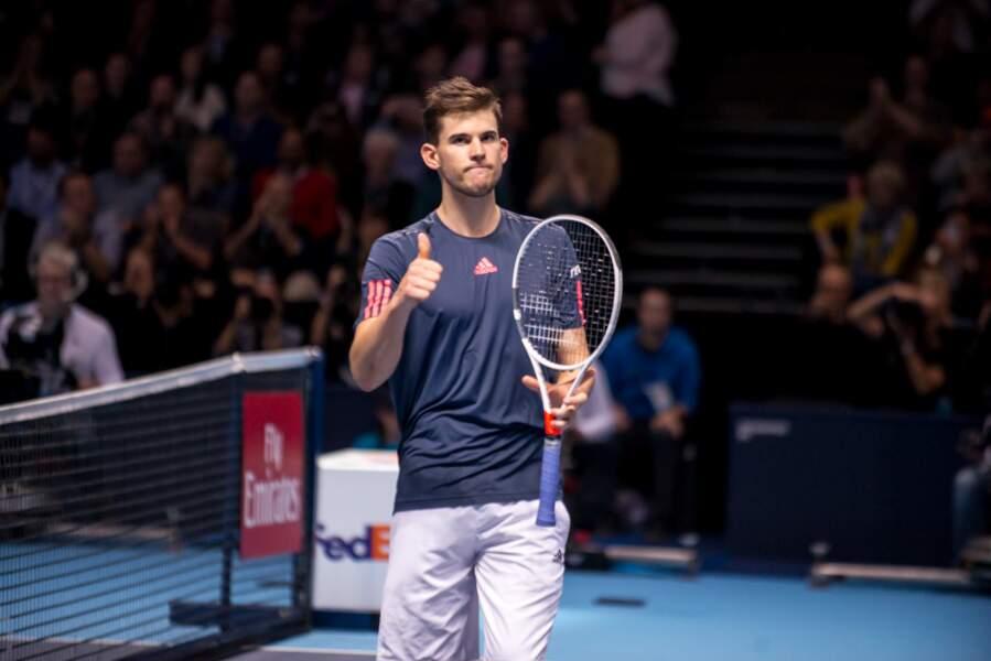 Dominic Thiem lors du Barclays ATP World Tour (Londres) en novembre 2016