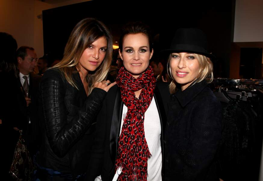 Isabelle Funaro avec Laeticia Hallyday, accompagnées d'Alexandra Golovanoff.