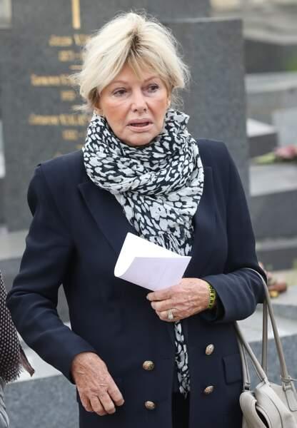 Maryse Gildas lors des obsèques de Véronique Colucci