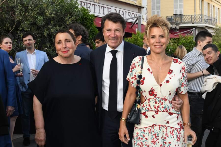 """Nicole Rubi, Christian Estrosi et Laura Tenoudji pendant la 2ème édition du """"littéraire de la Petite Maison"""" à Nice"""
