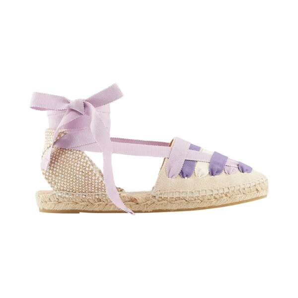 Sandales en toile de coton, Castaňer 70 €, marthalouisa.com
