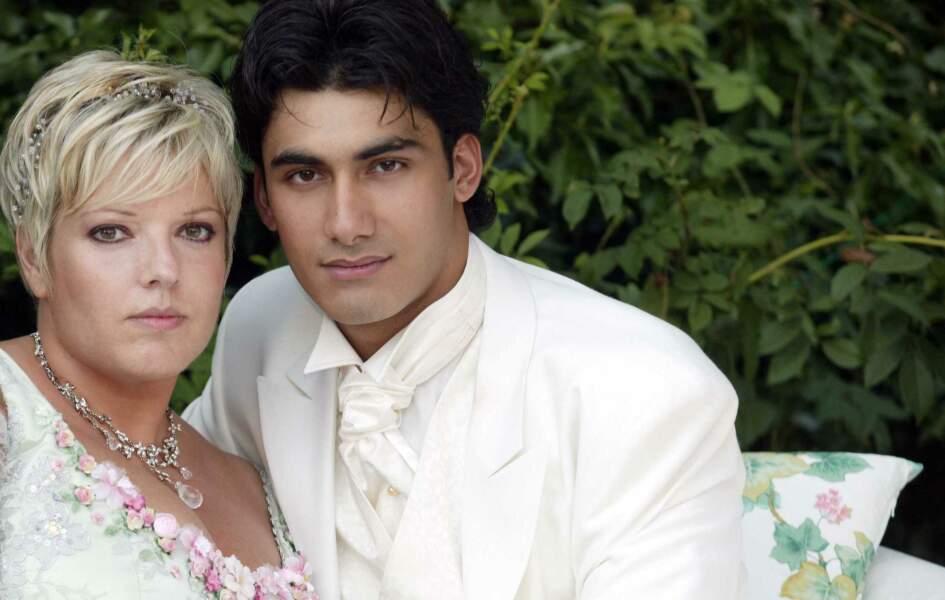 Presles en Brie (Seine et Marne), le 31 juillet 2004: Mariage de Laurence Boccolini et de Mikael Fakailo