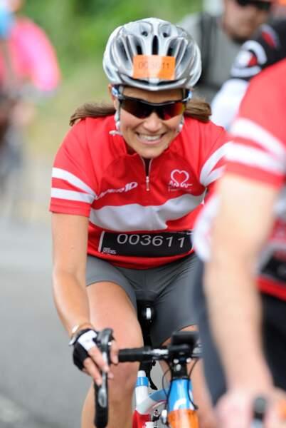 "Pippa Middleton participe à la course cycliste ""London to Brighton"" le 21 juin 2015"