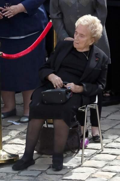Bernadette Chirac émue aux obsèques de celle que son mari appelait Poussinette