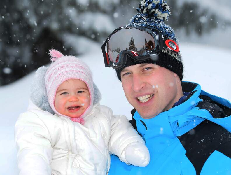 Charlotte et William lors de leurs vacances dans les Alpes françaises le 7 mars 2016