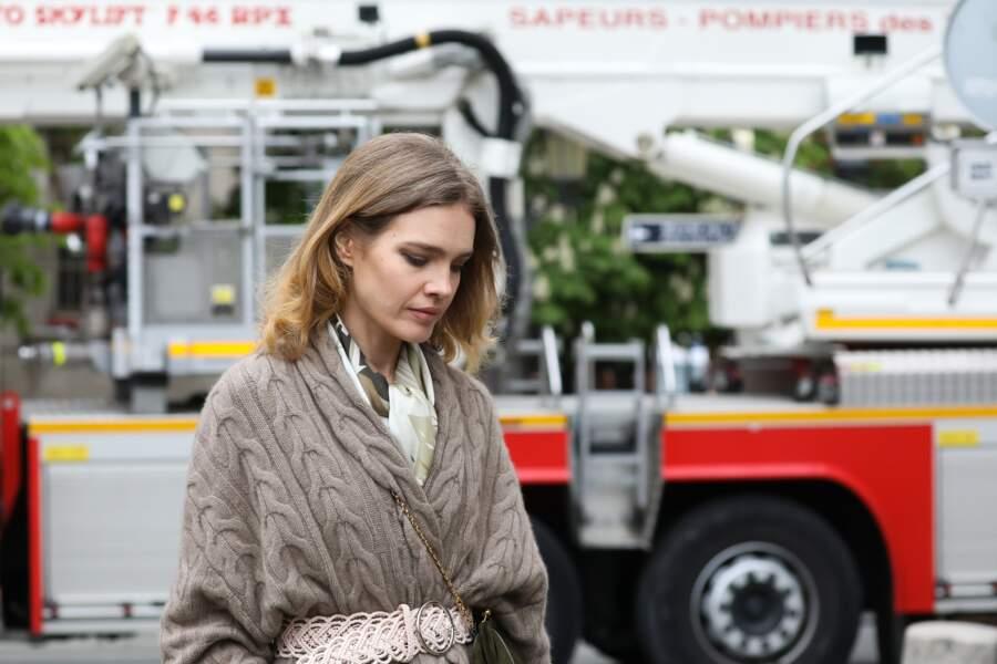 Natalia Vodianova était accompagnée d'Antoine Arnault pour constater les dégâts liés à l'incendie
