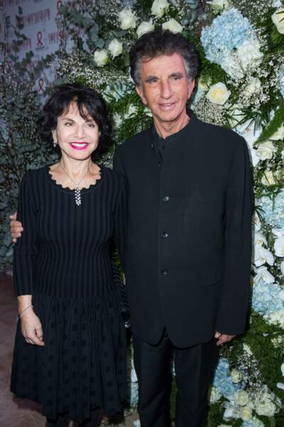 Jack Lang et sa femme Monique au dîner du Sidaction
