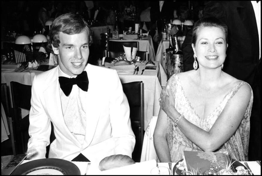 Grace Kelly et son fils, le prince Albert de Monaco