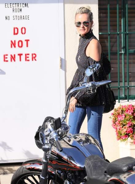 Laeticia Hallyday aperçue dans les rues de Los Angeles, le 24 janvier dernier