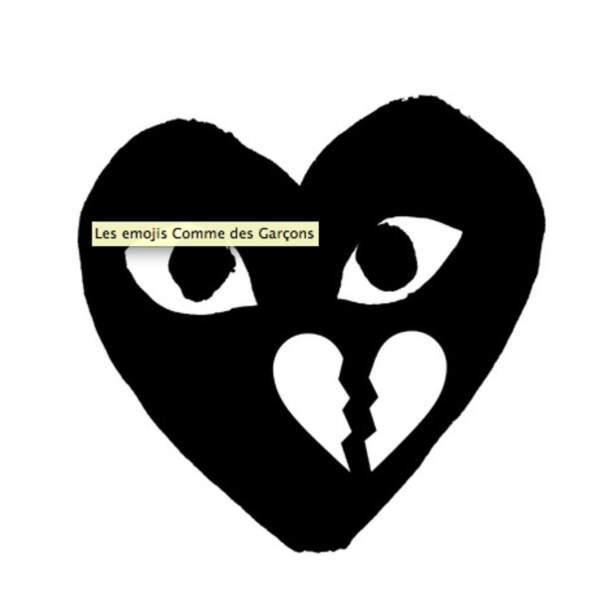 l'emoji Cœur de Comme des Garçons à télécharger sur l'appstore à 0,99 €