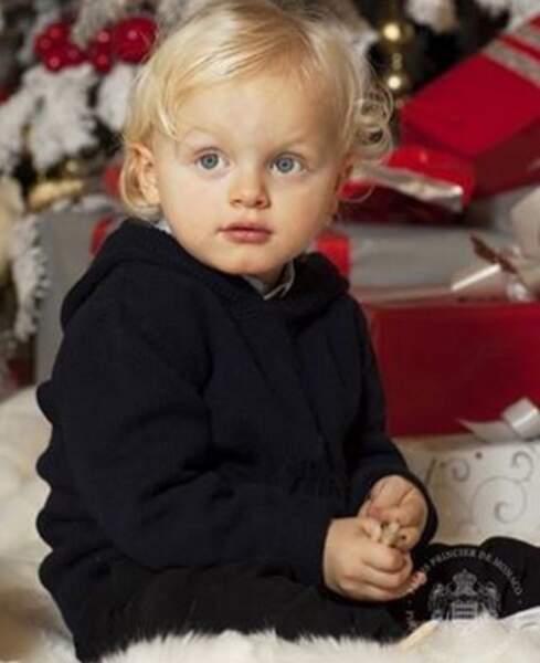 Comme Charlène, le prince héritier Jacques a de magnifiques yeux bleus !