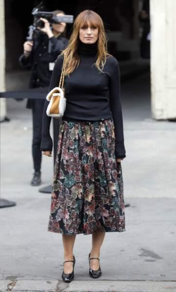 Caroline De Maigret, la muse Chanel ne rate jamais un défilé