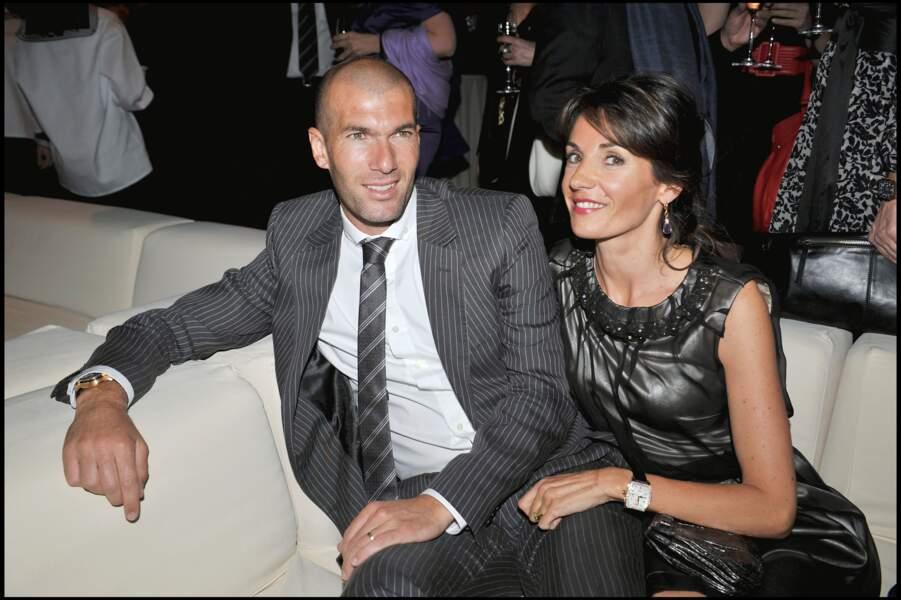 Zinédine Zidane et sa femme Véronique lors de la soirée IWC Schaffhausen à Genève en 2008