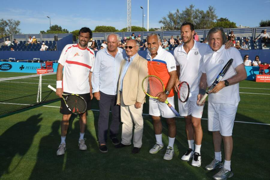 Sergi Bruguera, Christian Bîmes, Jean-Pierre Tuveri, Mansour Bahrami, Michael Llodra et Ilie Nastase