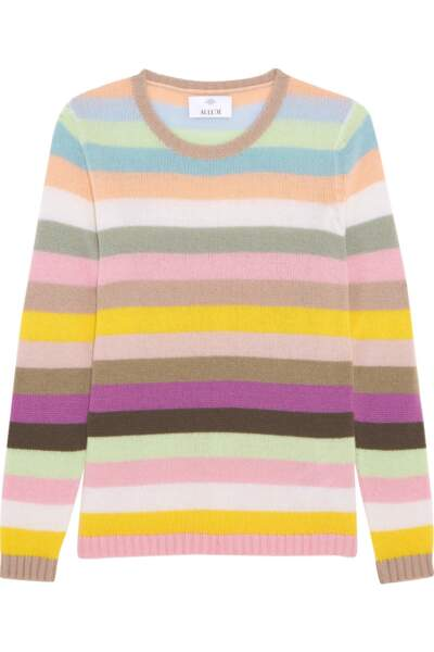 Pull en cachemire à rayures, Allude - 340€