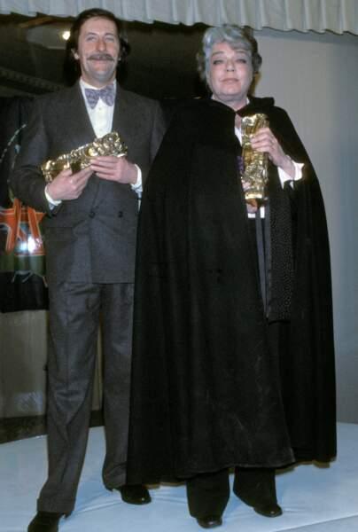 """Simone Signoret (ici avec Jean Rochefort), récompensée pour le film """"La Vie devant soi"""" en 1978"""