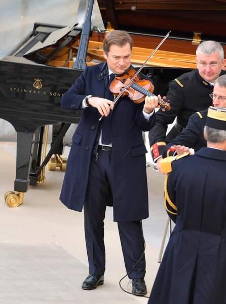 Le musicien Renaud Capuçon, lors de la cérémonie d'hommage national à Jean d'Ormesson aux Invalides