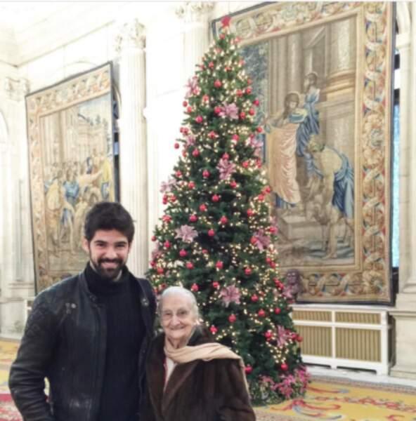 Miguel Angel Muñoz et sa grand-mère