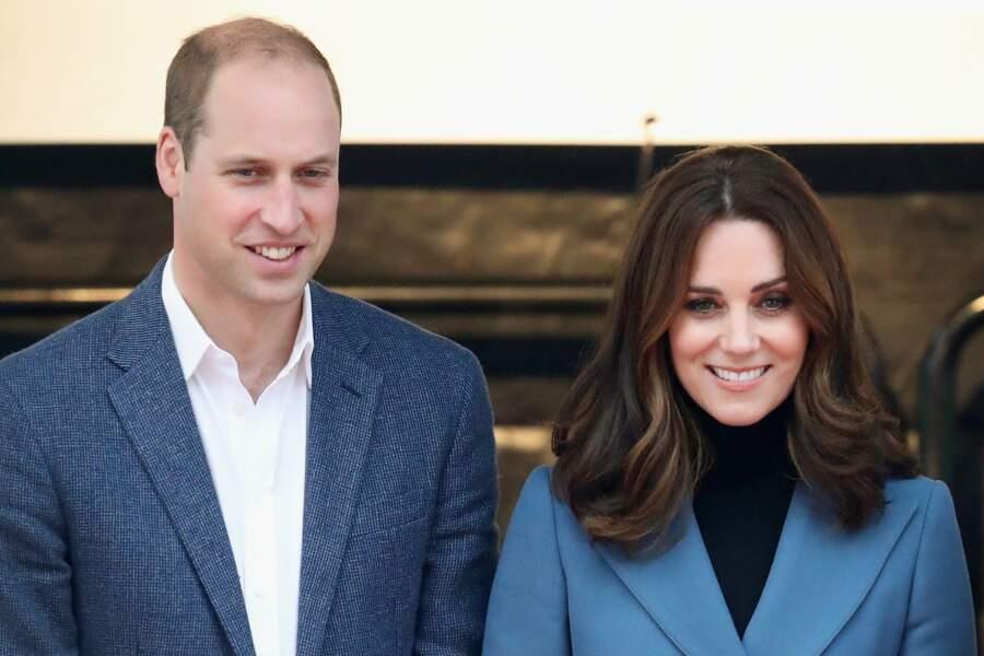 Kate Middleton et William d'Angleterre, un couple assorti et souriant