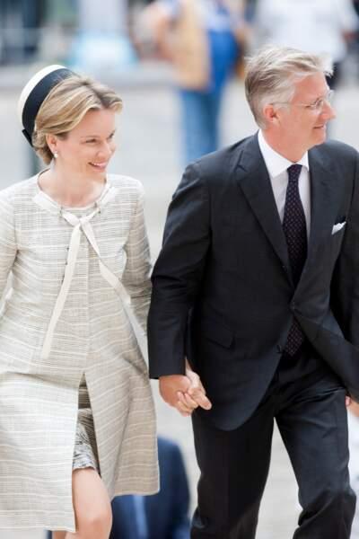 Le roi Philippe de Belgique et la reine Mathilde célèbrent le 20e anniversaire de la mort du roi Baudouin, en 2013.