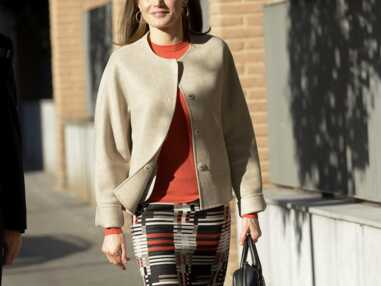 Letizia d'Espagne, en promenade dans les rues de Madrid