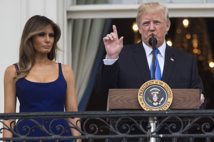 Melania et Donald Trump ont passé la fête nationale à Washington