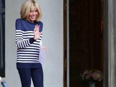 PHOTOS - On plonge pour la marinière comme Brigitte Macron, Rihanna et Sharon Stone