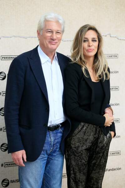 Richard Gere et sa compagne Alejandra Silva le 26 septembre 2016