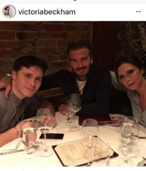 Brooklyn, David et Victoria Beckham