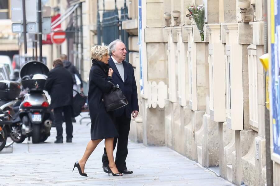 Evelyne Dhéliat et son mari Philippe au mariage de Catherine Laborde