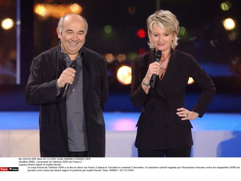 Avec Gérard Jugnot en 2004